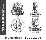 tigers   logo  icon ... | Shutterstock .eps vector #582611101