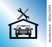 car in the garage icon ... | Shutterstock .eps vector #582613345