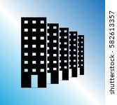 buildings icon  real estate... | Shutterstock .eps vector #582613357