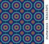 seamless multicolor pattern blue | Shutterstock .eps vector #582615691