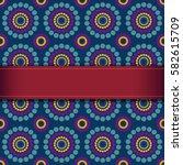 red ribbon on seamless... | Shutterstock .eps vector #582615709