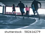 back view of several people... | Shutterstock . vector #582616279