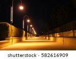 Night Street Light. Evening...