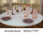 served table in a shop | Shutterstock . vector #582617707