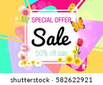 spring. sale.  | Shutterstock .eps vector #582622921