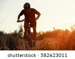 close up man  silhouette young... | Shutterstock . vector #582623011