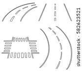 vector set of road | Shutterstock .eps vector #582623521