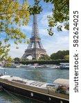 paris  france   october 12 ...   Shutterstock . vector #582624025
