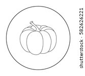 pumpkin icon in outline style... | Shutterstock .eps vector #582626221