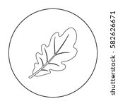 oak leaf icon in outline style... | Shutterstock .eps vector #582626671