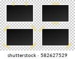 vector set of black photo... | Shutterstock .eps vector #582627529