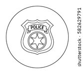 police officer badge icon in... | Shutterstock .eps vector #582629791
