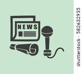 icon of news | Shutterstock .eps vector #582632935