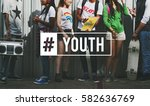 youth culture young adult... | Shutterstock . vector #582636769