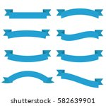 set of blue ribbons vector | Shutterstock .eps vector #582639901
