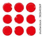 vector brush strokes circles of ... | Shutterstock .eps vector #582640369