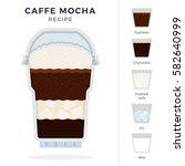 caffe mocha recipe in plastic... | Shutterstock .eps vector #582640999