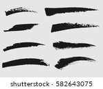 set of black paint  ink brush... | Shutterstock .eps vector #582643075