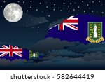 illustration of night clouds ... | Shutterstock .eps vector #582644419