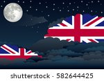 illustration of night clouds ... | Shutterstock .eps vector #582644425