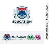 education  academy  school ... | Shutterstock .eps vector #582648034
