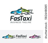fast taxi  transportation  taxi ... | Shutterstock .eps vector #582648085