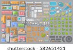 vector set. houses ... | Shutterstock .eps vector #582651421