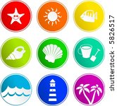 beach sign icons | Shutterstock .eps vector #5826517