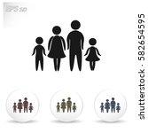 family vector icon | Shutterstock .eps vector #582654595
