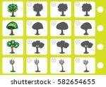 match shadow   worksheet for... | Shutterstock .eps vector #582654655