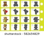 match shadow   worksheet for... | Shutterstock .eps vector #582654829