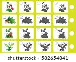 match shadow   worksheet for... | Shutterstock .eps vector #582654841