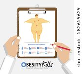 infographic for 8 diseases due... | Shutterstock .eps vector #582659629