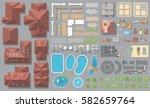 vector set. houses ... | Shutterstock .eps vector #582659764