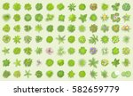 vector set. trees top view.... | Shutterstock .eps vector #582659779