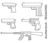 vector set of gun | Shutterstock .eps vector #582663481