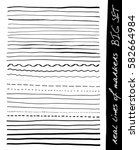 hand lines   real markers. big... | Shutterstock .eps vector #582664984