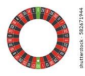 american casino roulette wheel. ... | Shutterstock .eps vector #582671944