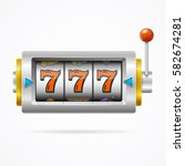 realistic slot machine with one ... | Shutterstock .eps vector #582674281