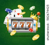 casino concept with slot... | Shutterstock .eps vector #582674425