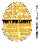 retirement   nest egg design is ... | Shutterstock .eps vector #582674431