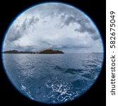 fisheye lens image of porto... | Shutterstock . vector #582675049