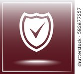 shield sign icons  vector... | Shutterstock .eps vector #582677257