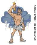 cartoon character of zeus the... | Shutterstock .eps vector #582679099