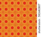 seamless texture of geometric... | Shutterstock .eps vector #582682807
