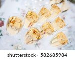champagne at the banquet  | Shutterstock . vector #582685984