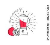 blender line icon. vector... | Shutterstock .eps vector #582687385