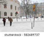 helsinki  finland   jan 12 ... | Shutterstock . vector #582689737