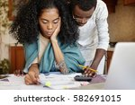people  family budget  finances ... | Shutterstock . vector #582691015