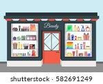 cartoon beauty cosmetics store... | Shutterstock .eps vector #582691249